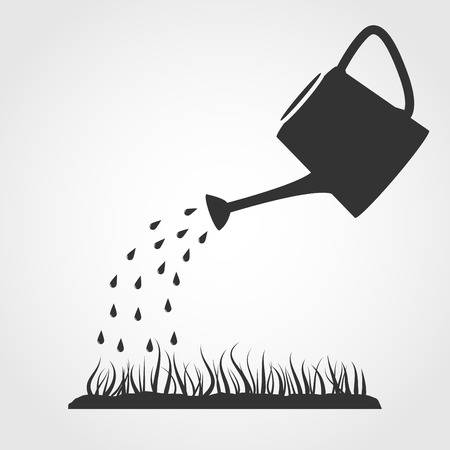 28558479-dark-grey-watering-can-sprays-water-drops-above-lawn
